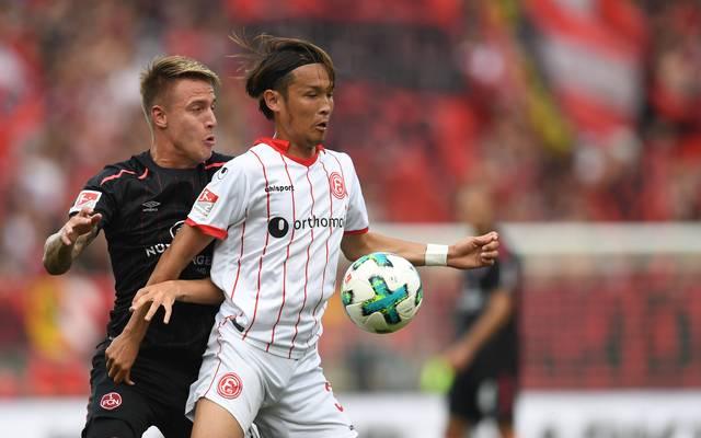 Takashi Usami (r.) war in der vergangenen Saison an Fortuna Düsseldorf ausgeliehen