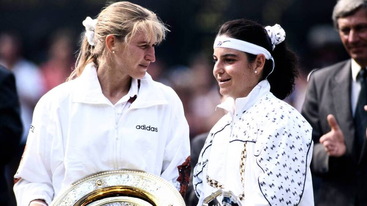 Arantxa Sánchez Vicario (r.) war Steffi Grafs Rekordgegnerin in Grand-Slam-Finals