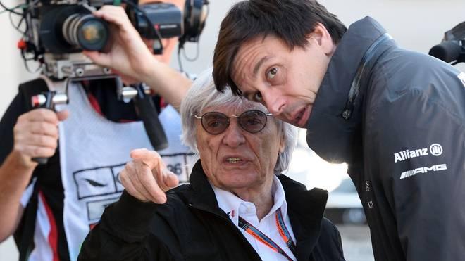 Bernie Ecclestone und Toto Wolff im Gespräch