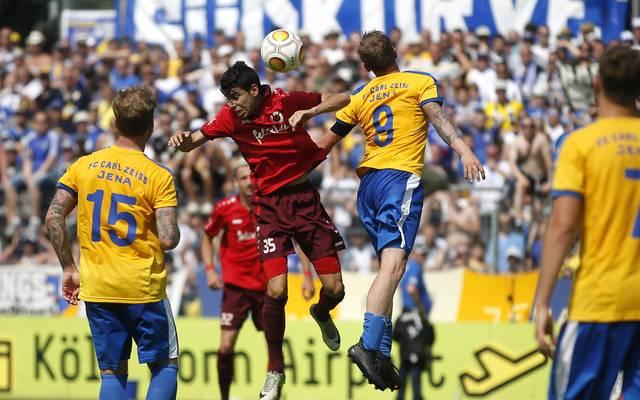 Viktoria Koeln v FC CZ Jena - Third League Playoff Leg One