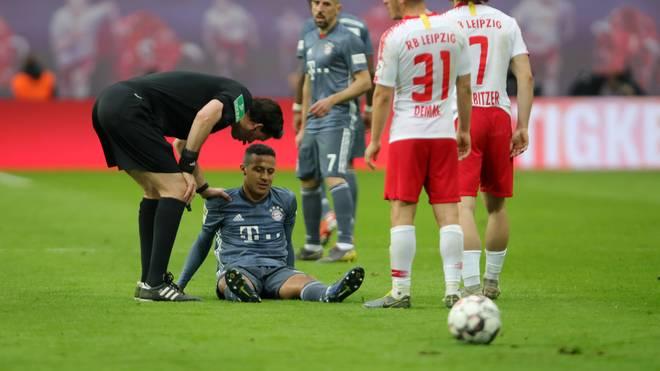 Thiago musste bei RB Leipzig ausgewechselt werden
