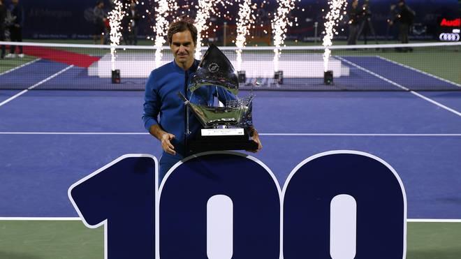 Tennis, Weltrangliste: Roger Federer klettert, Zverev und Kerber behalten Position , Roger Federer feierte in Dubai seinen 100. Titel auf der ATP-Tour
