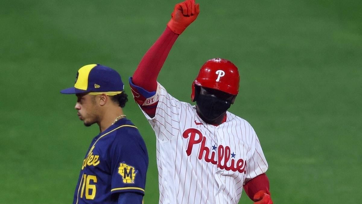 Ein Phillies-Fan hat im Spiel gegen die Mets einen Ball gefangen
