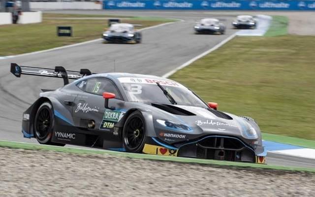 In der Anfangsphase des Rennens am Sonntag lagen die Aston Martins hinten