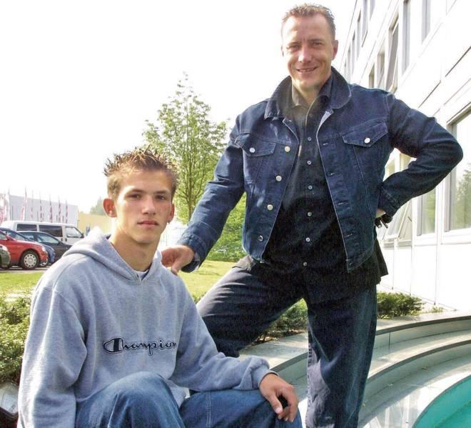 Martin Wagner (r.) wurde mit Kaiserslautern 1998 Meister - und später Waslikowskis (l.) Berater