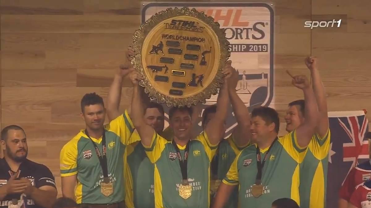 Australien Timbersports-Champion, Deutschland raus