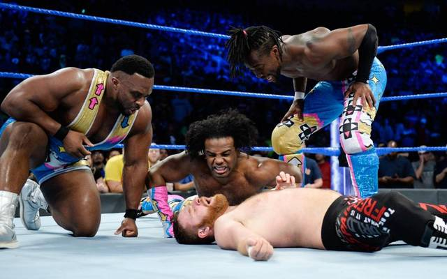 The New Day nahmen sich bei WWE SmackDown Live Sami Zayn vor