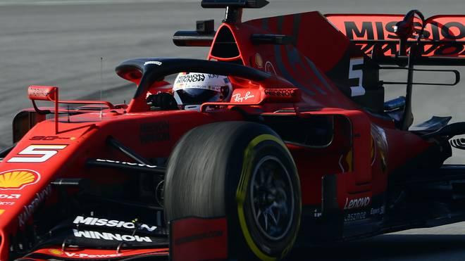 Sebastian Vettel hatte im Duell mit Lewis Hamilton die Nase vorn