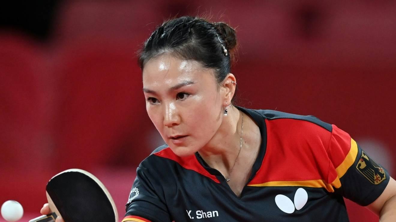 Xiaona Shan beim Match gegen Doo Hoi Kem