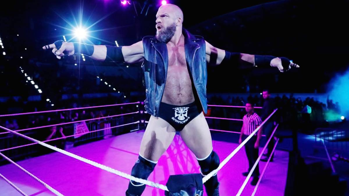 WWE-Hall of Famer Triple H bei seinem Ringeinzug