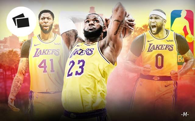 LeBron James (m.) will mit seinem neu gebildeten Team bei den Lakers angreifen