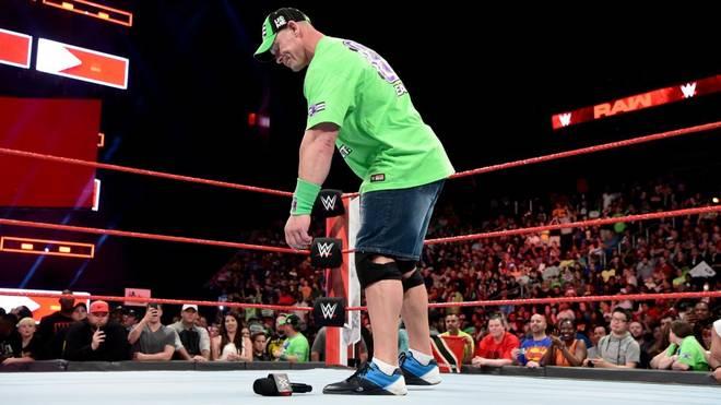 John Cena forderte den Undertaker bei WWE Monday Night RAW final heraus