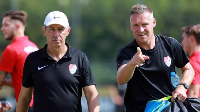 Reiner Maurer (l.) un sein Co-Trainer Michael Hofmann sind für Türkgücü München verantwortlich