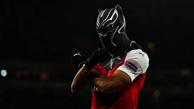 Pierre-Emerick Aubameyang war mit seinem Doppelpack Arsenals Matchwinner im Achtelfinal-Rückspiel der Europa League gegen Stade Rennes