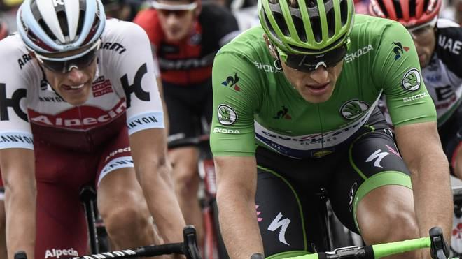 Marcel Kittel (r.) stürzte auf der 17. Etappe