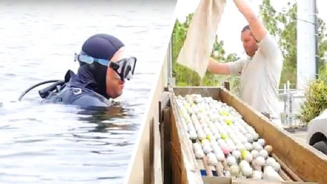 Glenn Berger fischt professionell Bälle aus Golf-Teichen - und verdient Millionen