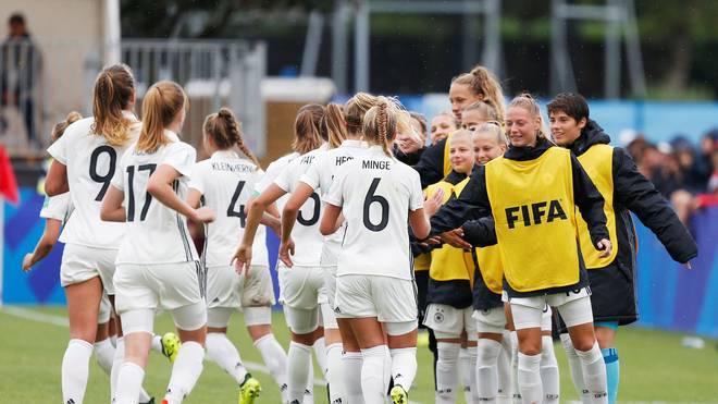 Deutschlands U20-Frauen feiern den zweiten Sieg im zweiten WM-Spiel