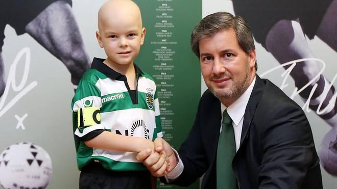 Der fünfjährige Francisco ist großer Fan von Sporting Lissabon