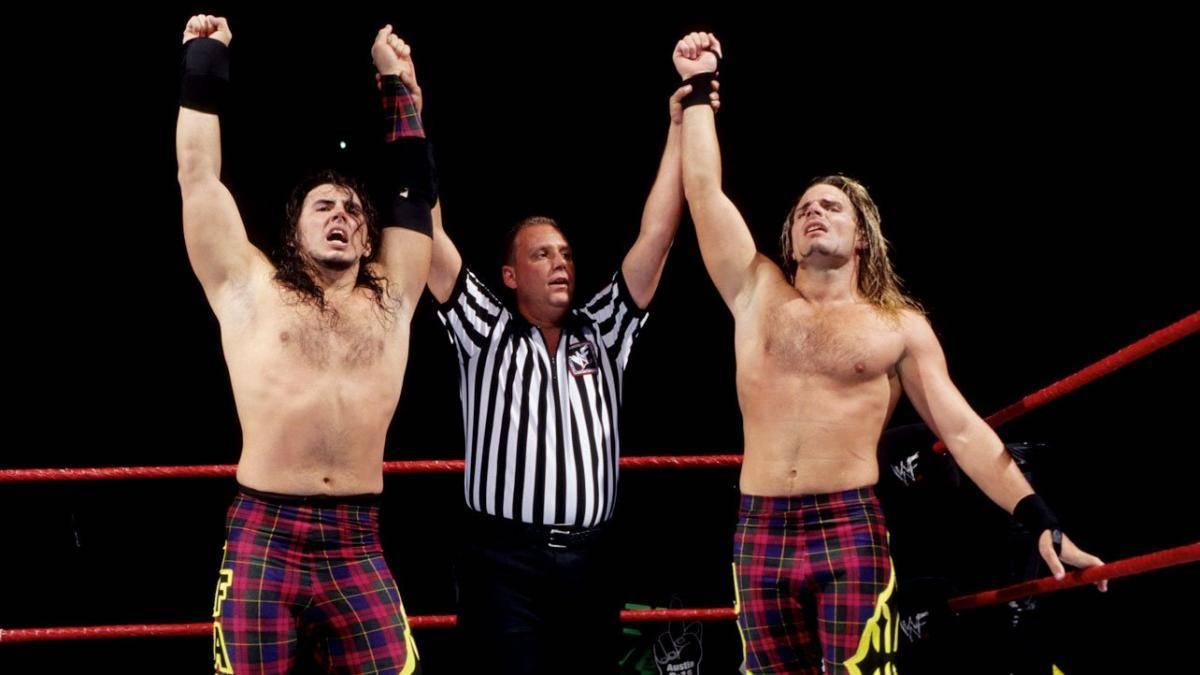 Matt (l.) und Jeff Hardy zu Beginn ihrer WWF-Karriere 1998