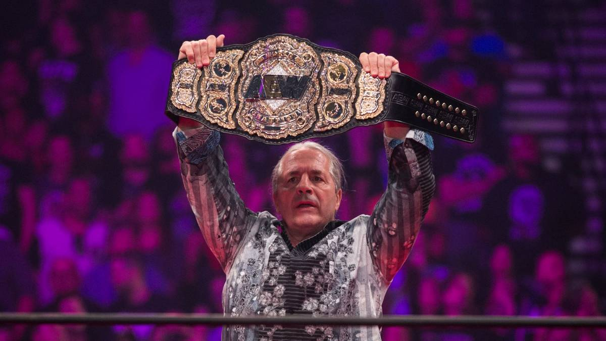 Bret Hart enthüllte im Mai 2019 den World Title von AEW