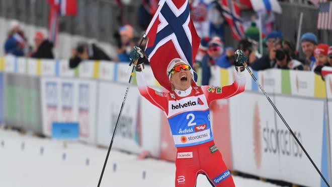 Therese Johaug dominierte auch über die 30 Kilometer