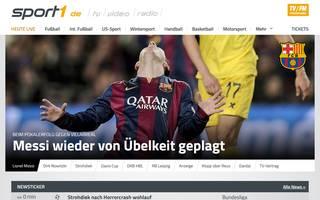 SPORT1.de als Startseite einrichten