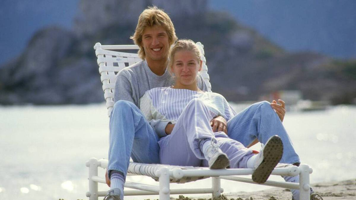 Dietmar Mögenburg mit seiner damaligen Freundin Astrid von Moltke