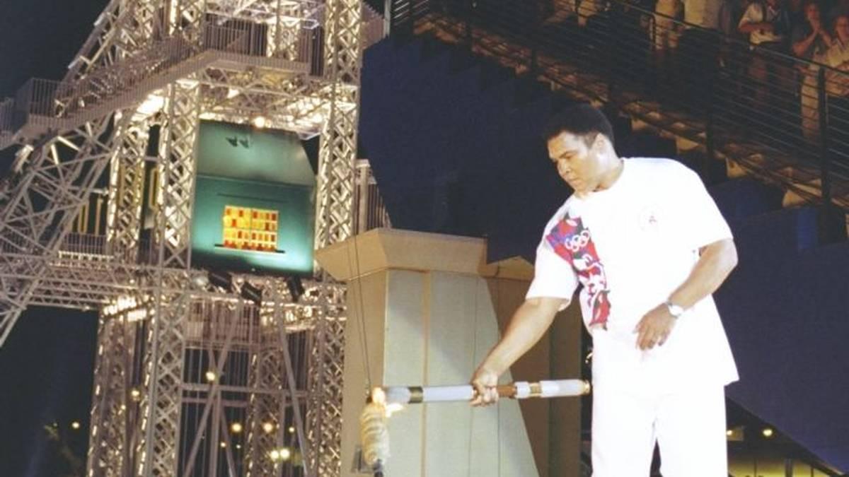 Muhammad Ali entzündete 1996 in Atlanta das Olympische Feuer