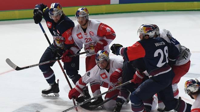 Eishockey: CHL-Auftakt mit  Red Bull München und Adler Mannheim , In der CHL setzte sich Red Bull München im Halbfinale gegen Red Bull Salzburg durch