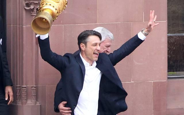 DFB-Pokal: Bayern-Trainer Niko Kovac auf den Spuren von Thomas Schaaf, Niko Kovac feierte in der vergangenen Saison den Pokalsieg mit Eintracht Frankfurt