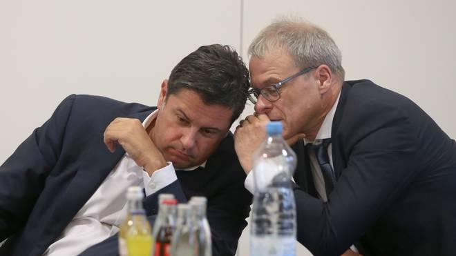 Der Sprecher des Präsidiums, Christian Seifert (l.) und sein erster Stellvertreter Peter Peters