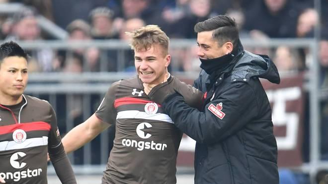Florian Carstens feierte sein Tordebüt in der 2. Bundesliga für den FC St. Pauli