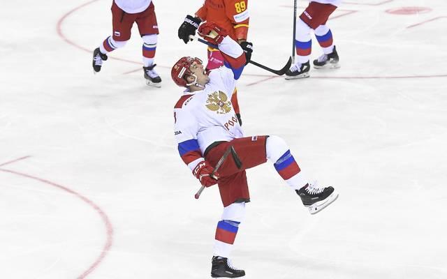 Dmitrij Judin war gegen die Schweiz unter den Torschützen für Russland