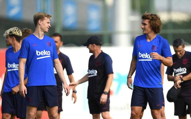 Frenkie de Jong und Antoine Griezmann stehen vor ihrem Debüt bei Barcelona