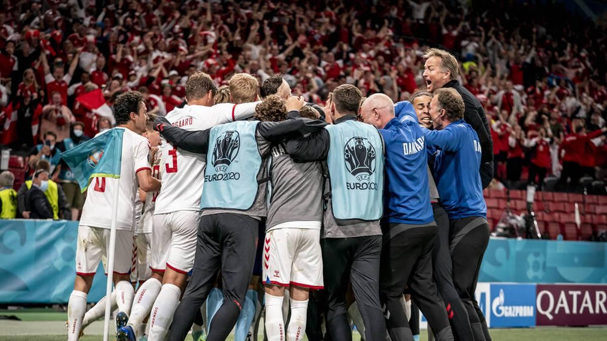 Dänemark steht im Achtelfinale der EM