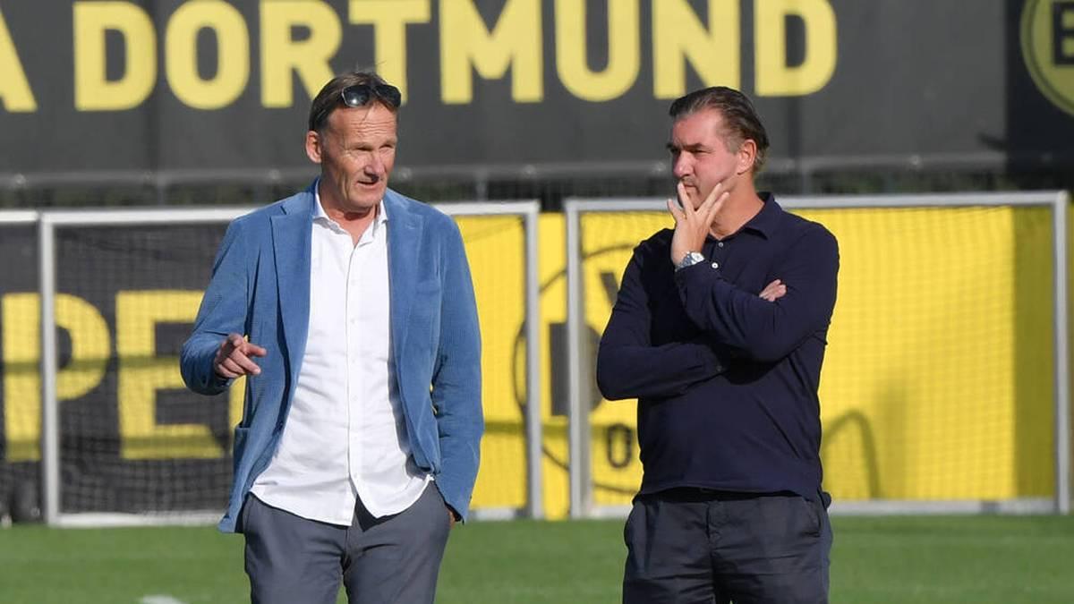BVB-Geschäftsführer Hans-Joachim Watzke (l.) und Manager Michael Zorc ließen sich auf keinen Deal ein.