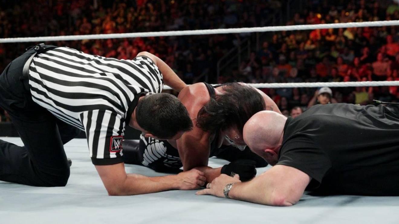 Sting bestritt 2015 bei WWE sein letztes Match gegen Seth Rollins