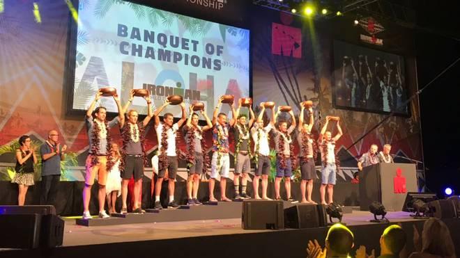 Die Siegerehrung beim Ironman Hawaii