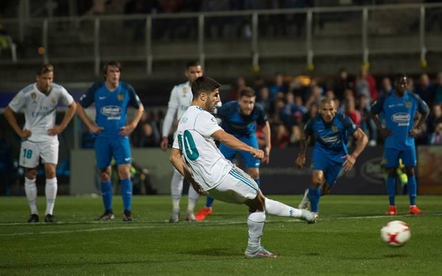 Marco Asensio traf zur Führung für Real Madrid
