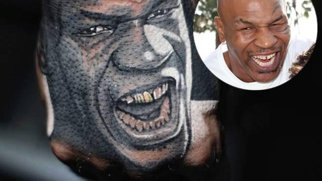 """Gut getroffen: Das neue Mike-Tyson-Tattoo von """"The Game"""" hat Biss."""