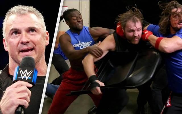 Shane McMahon (l.) begründete bei WWE SmackDown Live die Invasion bei Monday Night RAW