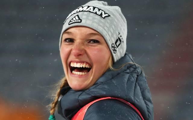 Katharina Althaus gewann ihr drittes Weltcup-Springen in Serie