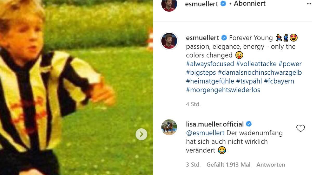Lisa Müller stichelte gegen Thomas Müller