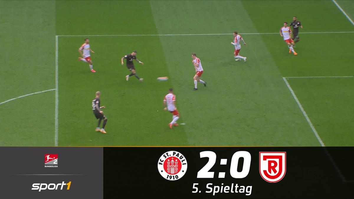 St. Pauli knackt den Tabellenführer dank Burgstaller-Gala
