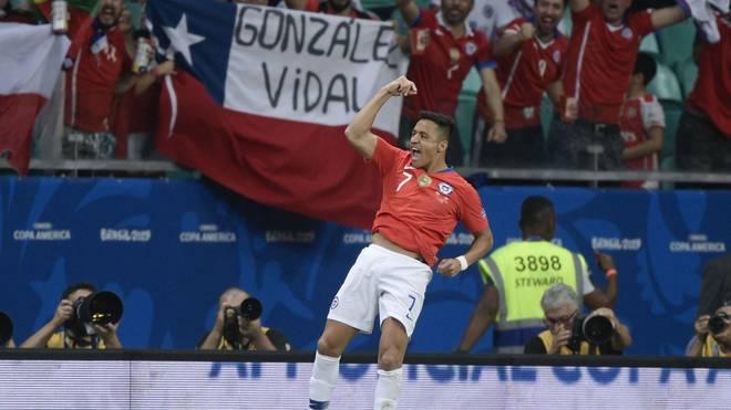 Alexis Sánchez erzielte das 2:1 für Chile bei der Copa América