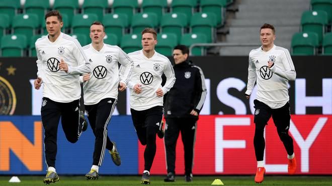 Das DFB-Team im Training vor dem Spiel gegen Serbien