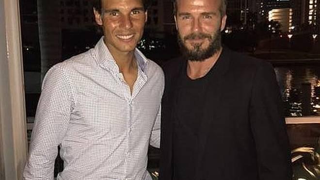 Hohe Prominenz auf einem Bild vereint: Rafael Nadal und David Beckham.