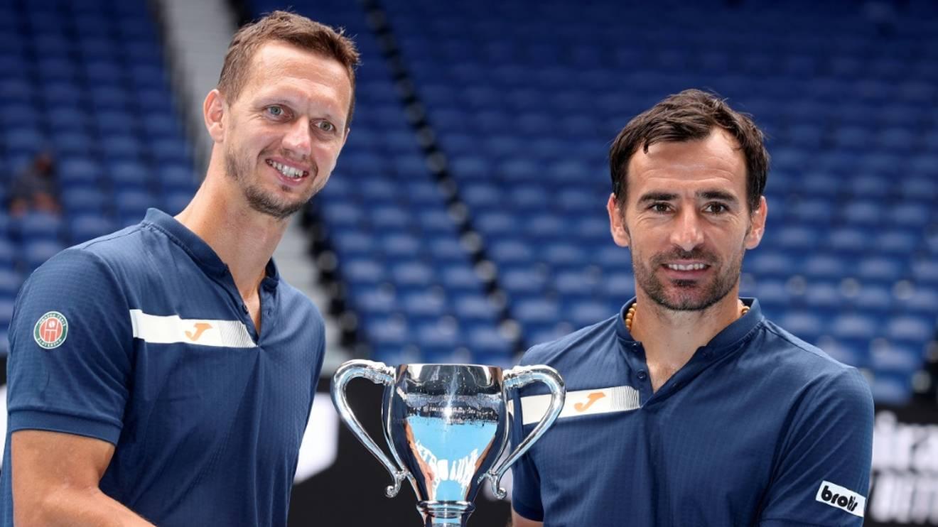 Ivan Dodig (r.) und Filip Polasek holten den Doppel-Titel