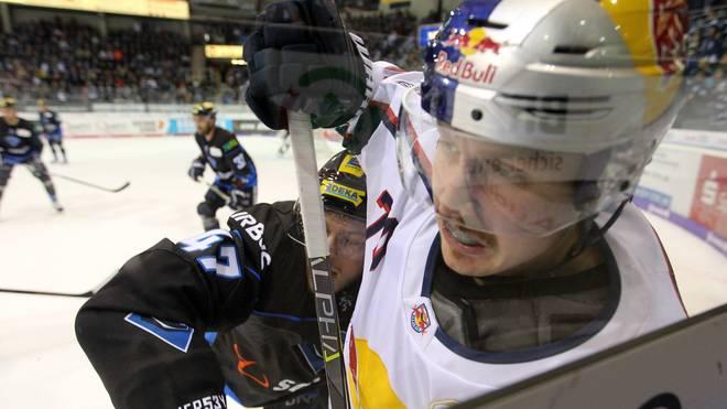 Maximilian Daubner erzielte in dieser Saison vier Tore für den EHC red Bull München in der DEL
