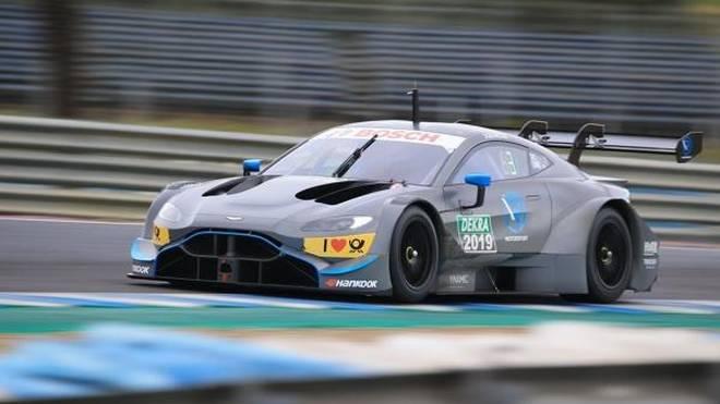 Der neue Aston Martin Vantage sammelt in Jerez Kilometer
